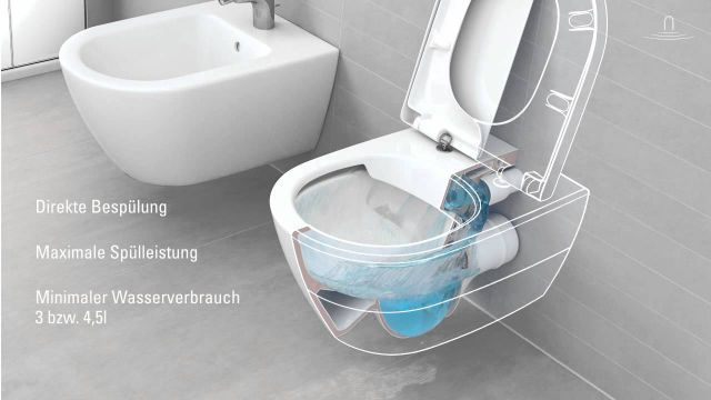 Embedded thumbnail for Villeroy & Boch: Spülrandloses WC DirectFlush