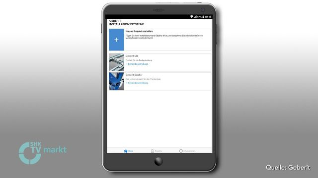 "Embedded thumbnail for Neue App ""Geberit Installationssysteme"""