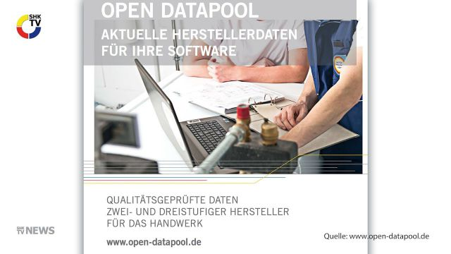 Embedded thumbnail for Open Datapool vom ZVSHK