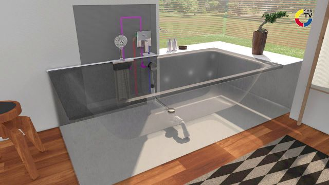 Embedded thumbnail for hansgrohe sBox Schlauch-Aufrollsystem Wanne