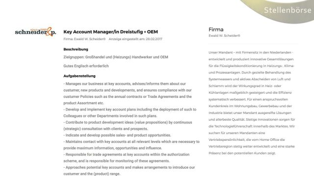 Embedded thumbnail for Key Account Manager Dreistufig + OEM gesucht